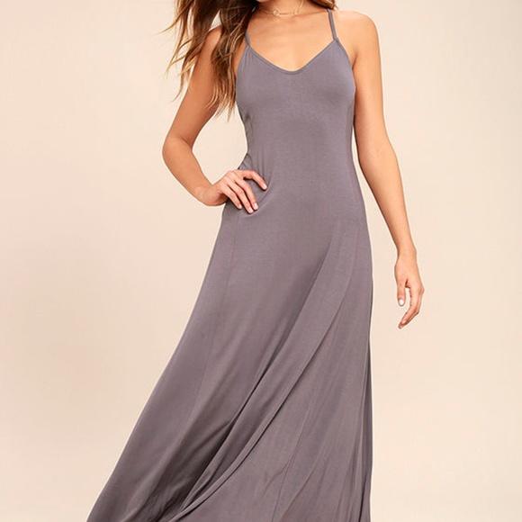 e7988a32fa1f5 Lulu's Dresses | Brand New Ever Amazed Dusty Purple Maxi | Poshmark